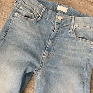 MOTHER skinny jeans light wash
